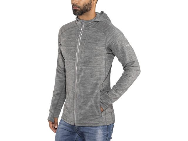 Icebreaker Quantum LS Zip Hood Jacket Herren gritstone hthr